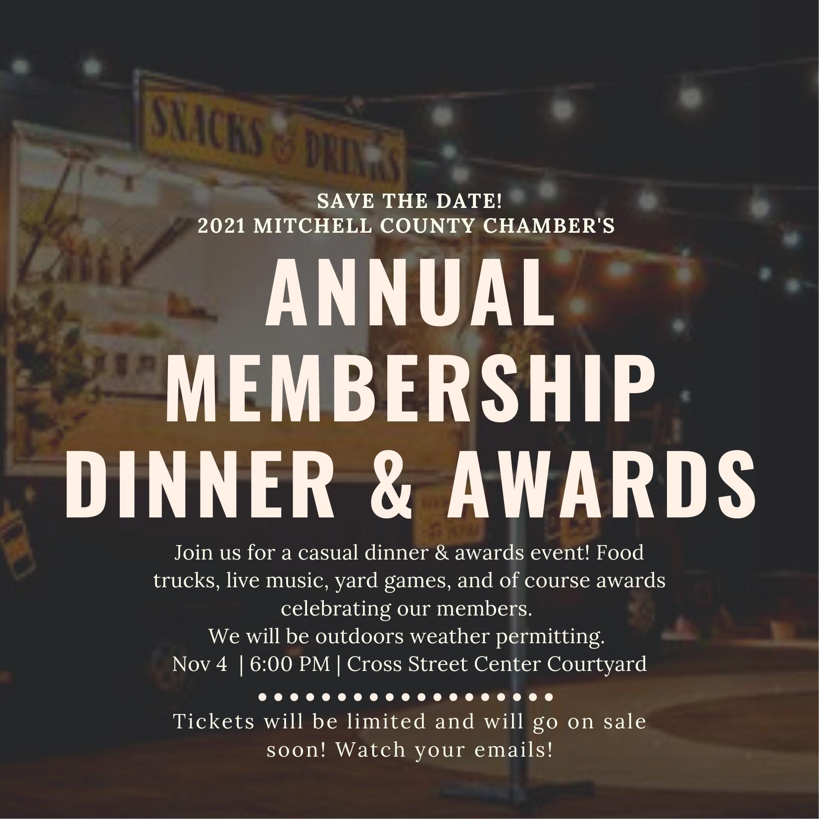Chamber Annual Dinner & Awards Returns for 2021